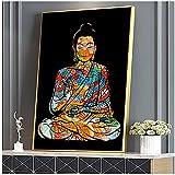 WSTDSM Bunte Drachentätowierung Buddha Zazen Religion