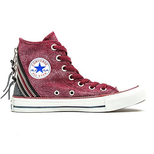 Converse Chuck Taylor All Star Femme Sparkle Wash Tri Zip Hi, Unisex-Erwachsene Gymnastikschuhe, Rot - Rosso (Oxheart) - Größe: 41