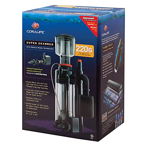 Coralife Energy Savers ACL33004 Super Skimmer W/Pump 220gal