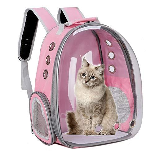 Apofly Gato El Morral Doble del Hombro Portátil Transpirable Pet Carrier Mochila para Gatos Perros Aire Libre Rosada del Viaje