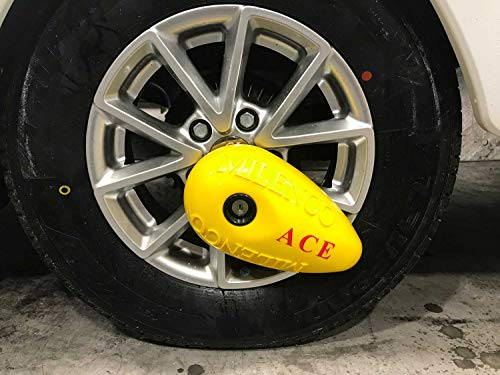 Milenco Ace Wheel Clamp For All Caravans Steel & Alloy Wheels Easy Fit Security Locking Device