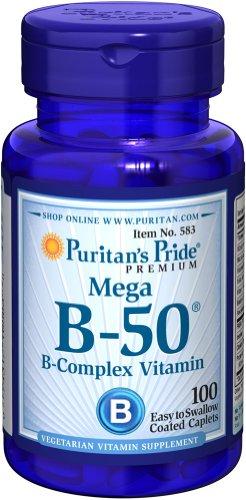 Puritan's Pride Vitamine B 50 complex Vitamin 100 Tabletten 583
