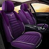 Car Seat Covers cubiertas del asiento ajuste automático de cuatro estaciones Interior de Automóviles, 5 Asiento del sistema completo universal compatible delantera y trasera bolsas de aire respirable