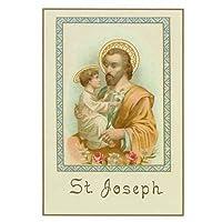 Holy Note Card (Large Hard)- St. Joseph