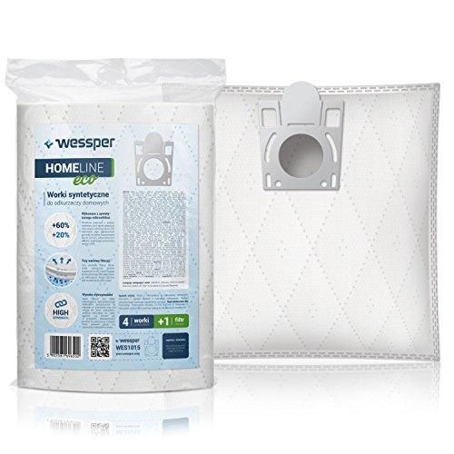 Wessper® Staubsaugerbeutel für Bosch Optima BS6 (4 Stück, Synthetische)