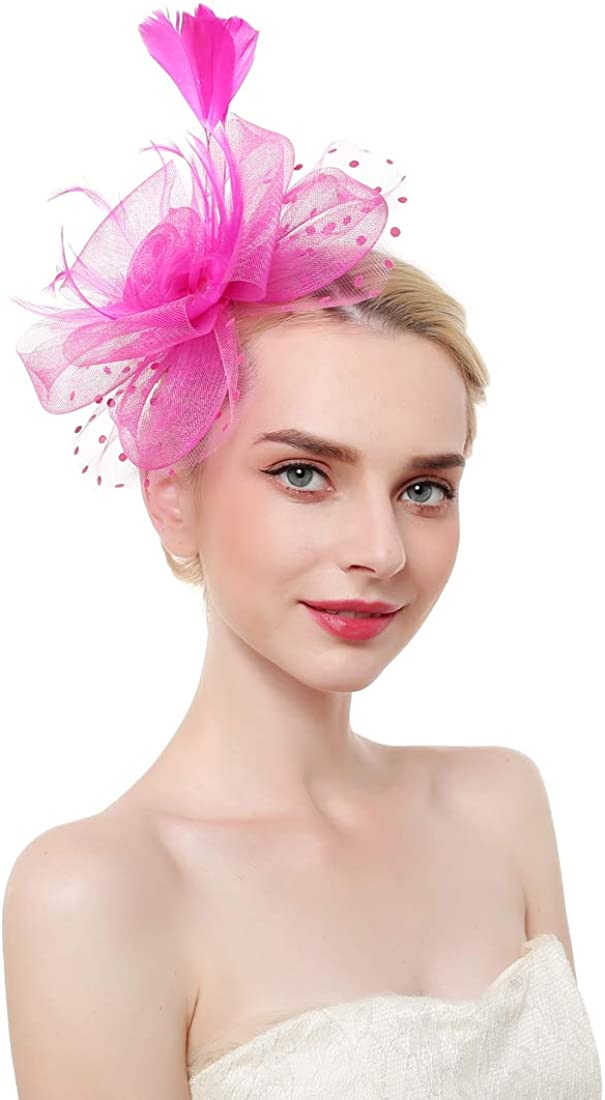 Kentucky Derby Fascinator Hat for Women Royal Church Wedding Tea Party Cocktail Party