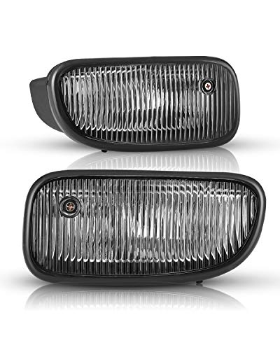 AUTOWIKI Fog Lights For 1999-2003 Jeep Grand Cherokee OEM Replacement Fog Lamps With Clear Lens 2PCS