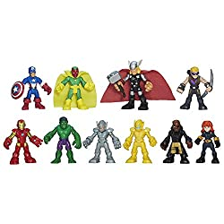 Image: Playskool Heroes Marvel Super Hero Adventures Ultimate Super Hero Set, 10 Collectible 2.5-Inch Action Figures, Toys for Kids Ages 3 and Up (Amazon Exclusive)