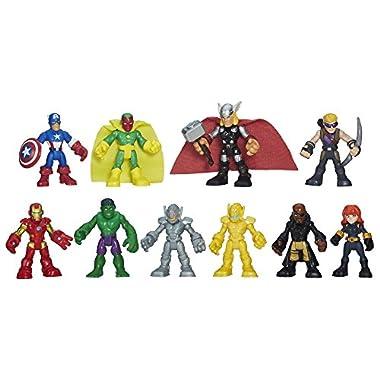 Playskool Heroes Marvel Super Hero Adventures Ultimate Super Hero Set, 10 Collectible 2.5-Inch Action Figures, Toys for…
