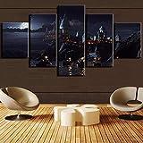 VKEXVDR 5 Partes decoración de Paredes Moderna Harry Castle 1 - Película HD...