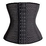 KSKshape Waist Trainer Corset Breathable Shapewear Girdle Medium Black