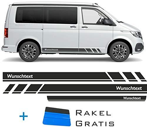 ORAFOL Seitenstreifen passen für VW T6.1, T6, T5, Multivan, Bulli, Seitenaufkleber