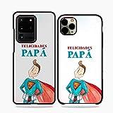 Fundas De Moviles Carcasas De Moviles Funda Carcasa Modelo Dia del Padre Super Papa Compatible con Samsung Galaxy J5 Pro