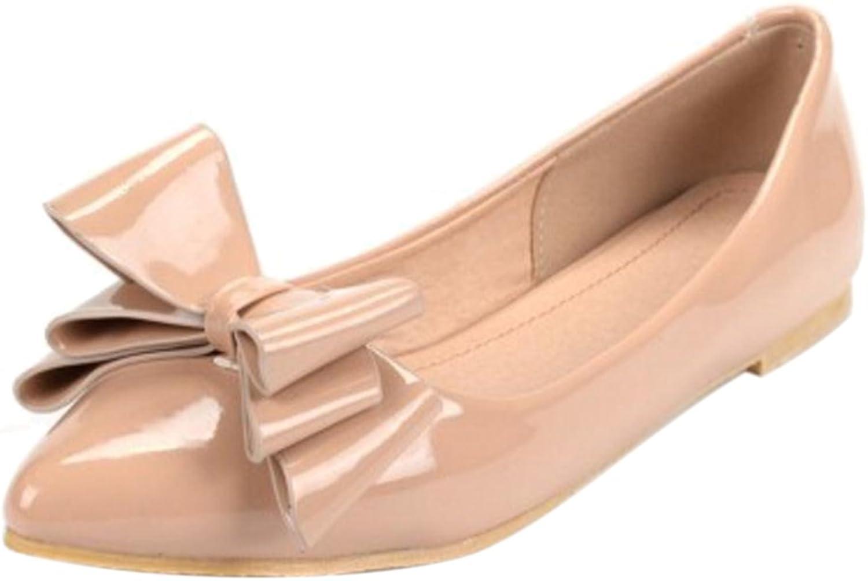 FizaiZifai Women Flat Pumps shoes Pointed Toe