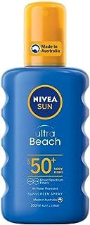 NIVEA SUN Ultra Beach Sunscreen Spray SPF50+, 200ml