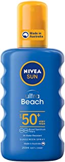 NIVEA SUN Ultra Beach Sunscreen Spray SPF50+, 200ml