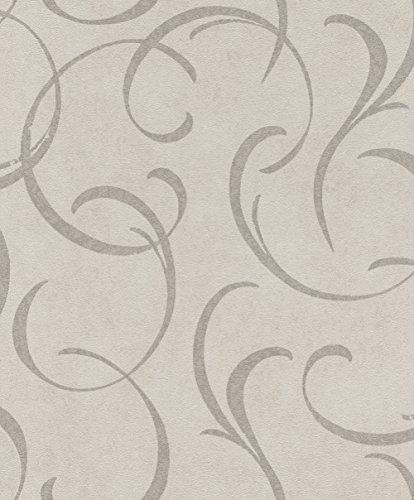 rasch Tapete 467628 aus der Kollektion Vincenza – Vliestapete in Beige mit braunem Muster – 10,05m x 53cm (L x B)