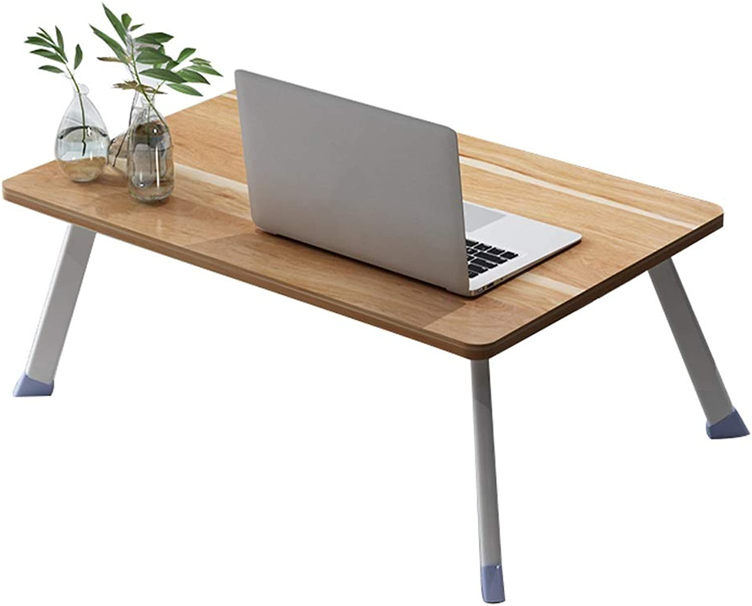 Simple Computer Desk Bed Desk Folding Dormitory Home Multi-Function Lazy Table Student Table (Three colors Optional) 70x50cm (color   Bamboo Wood)