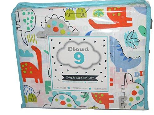 Cloud 9Dinosaurio Impresión en Color Multi Doble 3pc Juego de sábanas
