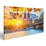 islandburner Bild Bilder auf Leinwand Köln in der Sonne