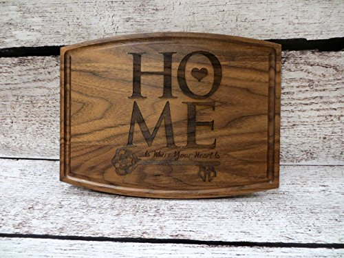 Custom Home is Where the Heart is Personalized Cutting Board