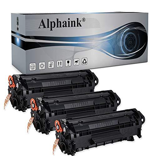 3 Toner Alphaink Compatibile con HP Q2612X versione da 3500 copie per stampanti HP 1005 HP LASERJET 1010 1012 1015 1018 1020 1022 3015 3020 3055