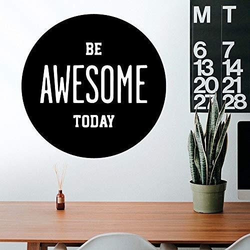 Tianpengyuanshuai Kreative Heute ist toll Büro Firma dekoriert Aufkleber Wandaufkleber Vinyl Aufkleber 28X28cm