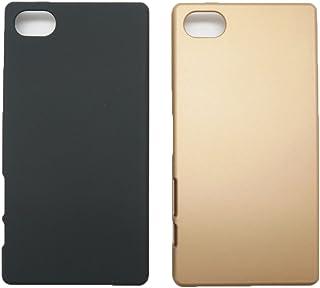 【RIRIYA】ソニー SONY Xperia Z5 compact SO-02H 4.6インチ専用 磨き砂面 携帯用ケース スマートフォン保護カバー 2色「522-0075」 (ゴールド) 522-0075-02