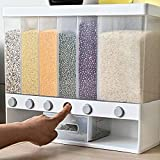 Xilei Dry Food Dispenser Bulk food storage Grain Canisters can accommodate six kinds of grains