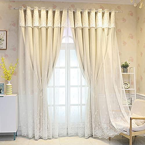 Zioaxxic Tende Oscuranti Camera da Letto Doppie Velo, Beige Moderne Termoisolanti Tende con Occhielli per Interni, 150x270cm, 1 Pannelli