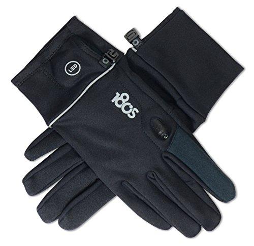 180`s Foundation Damen Handschuhe mit Integrierter LED-Beleuchtung für Kapazitive Touchscreens sowie Sport, Fahrradfahren, Fitness - Schwarz  Größe M   180GLWMBK