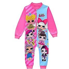 ShiJinShi LOL Surprise Pyjama grenouillère pour petites filles Rose Rouge 3-8 ans