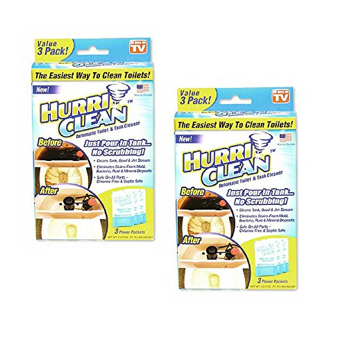 Hurriclean No Scrub Toilet Tank Cleaner Tablets for Automatic Removal of Stains, Mold, Bacteria, Rust and Mineral Deposits with No Chlorine or Harsh Chemicals