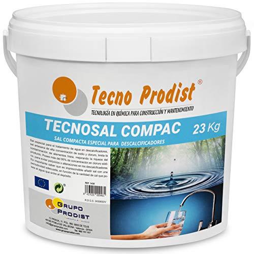 Tecno Prodist TECNOSAL - Sal compacta Especial para descalcificadores - En Cubo de 23 kg Comodidad