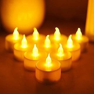 Molbory Lot de 36 bougies chauffe-plat LED à pile, sans flamme, pour Noël, sapin de Noël, Pâques, mariage, fête