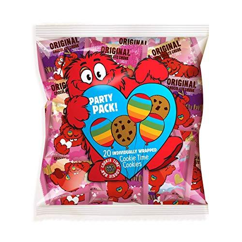 【クッキータイム 公式】ラブクッキー パック(20g X 20枚・オリジナル チョコレートチャンク) 大容量、大人気、おいしい クッキー、かわいい、しっとり、おしゃれ、バタークッキー、チョコレート、お土産にぴったり、キャラクター お菓子、海外のお菓子、割れクッキー、食べ応え、送料無料