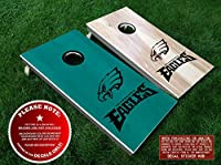 Philadelphia Eagles Cornhole Decals | BLACK | DIY Vinyl Sticker Set For Bean Bag Toss | Six (6) Vinyl Decals for Lawn Games Cornhole Board Building and Decorating | Decal Sticker Hub