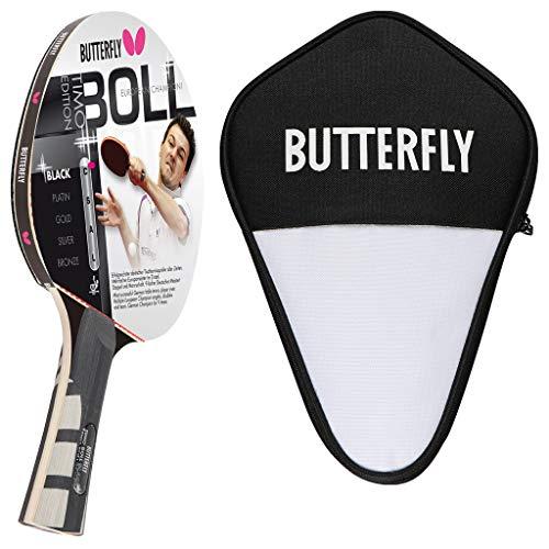 Butterfly Timo Boll Black Tischtennisschläger + Cell Case Tischtennishülle | Tischtennisschlägerset | Tischtennis Profi Set