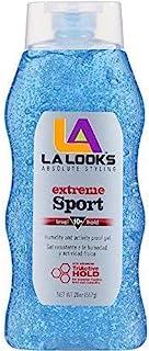 La Looks Gel #10 Extreme Sport Tri-Active Hold (Blue) 20 oz (Pack of 4)