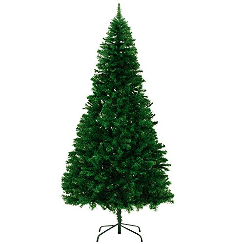 Artificial Christmas Tree Model and Size Choice Quality Plastic Xmas Tree Decorations with Stand – Large Premium Flame Resistant High Tip Count Green 2.40m 7ft 10in