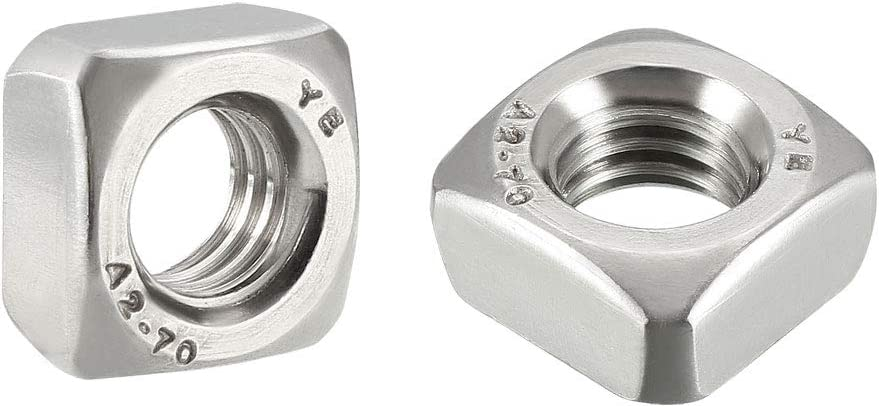 uxcell Luxury goods Brand new M8 Square Nuts 304 Coarse Steel Thread Metric Stainless