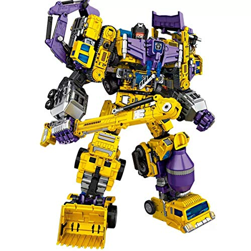 NBK Deformation Oversize Toys Robot Devastator TF Engineering Combiner 6 in 1 Action Figure Car Truck Model Gift for Kids Boys