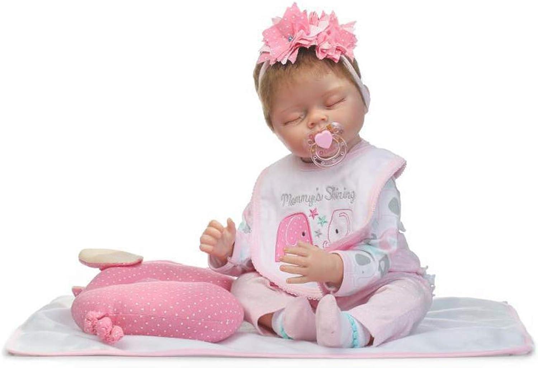 auténtico IIWOJ Reborn Baby Doll, Doll, Doll, Adorable Silicona 21,65 Pulgadas durmiendo muñeca-Regalo de la Muchacha recién Nacida Realista  marcas de moda