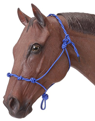 Tough 1 Knotted Rope & Twisted Crown Training Halter, Royal Blue