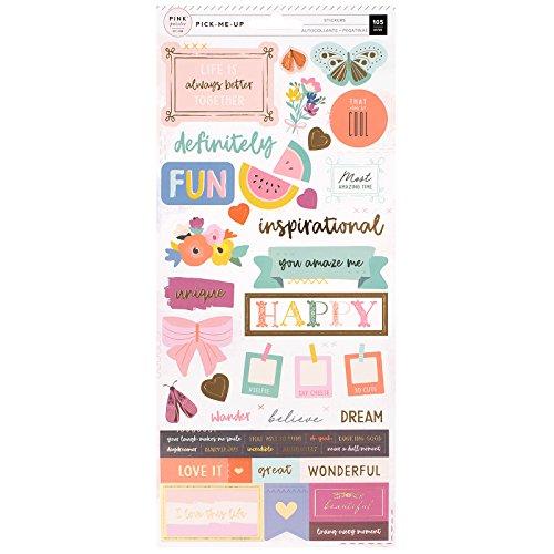 Tarjetas Oh My Heart 30x30cm American Crafts Paige Evans para Pink Paislee Papel 01