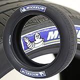Pegatinas para neumáticos Michelin logo azul y blanco – Kit de letras para neumáticos de goma permanente con pegamento (paquete de 8)