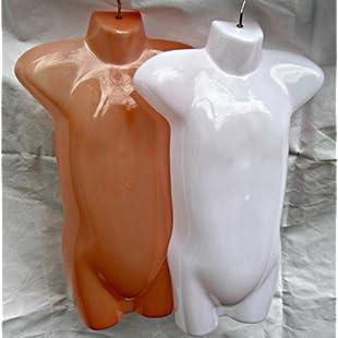3 x Child Kids Toddler sized plastic hanging shop display mannequins bodyforms mixed colours white & flesh - Fat-catz-copy-catz free UK P&P:Kisaran