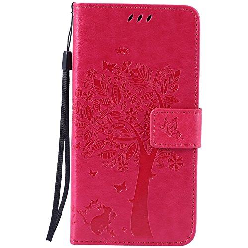 Nancen Compatible with Handyhülle Sony Xperia M4 Aqua (5,0 Zoll) Flip Schutzhülle Zubehör Lederhülle mit Silikon Back Cover PU Leder Handytasche Etui Schale