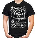 Alte Schule Trabant Männer und Herren T-Shirt | DDR Nostalgie Ossi 600 601 Kübel Trabi Oldtimer (M, Schwarz Trabant 601)