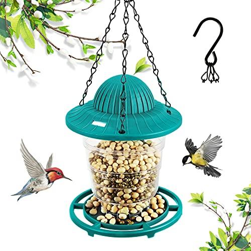 Delicacy Comedero para pájaros, Linterna Colgante, comederos para pájaros Silvestres, estación de alimentación de Semillas con Colgador